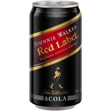 Johnnie Walker Red met Cola Blikjes Tray 12x33cl
