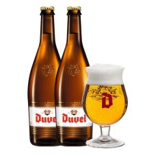 Duvel Bierpakket Cadeau 2 Flessen 75cl met Glas