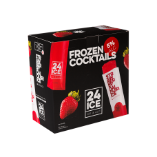 24 ICE Strawberry Daiquiri Frozen Cocktail, Waterijsjes met Drank, XL Doos 50 stuks