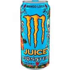 Monster Juice Mango Loco Energy Drink Blikjes, Tray 12x50cl