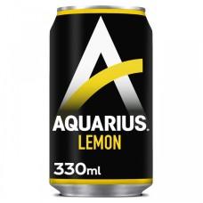 Aquarius Lemon Blikjes Sportdrank Tray 24 Blikjes 33cl