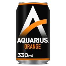 Aquarius Orange Blikjes Sportdrank Tray 24 Blikjes 33cl