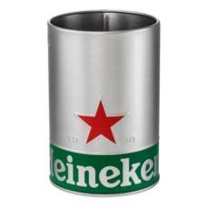 Heineken bierafschuimer houder RVS + Gratis Bierafschuimer
