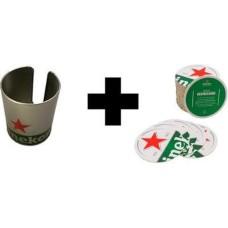 Heineken Bar Vilthouder met 1 Viltjes rol Cadeau Pakket Heineken gift set