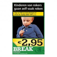 Break Green Cigarillos Met Filter Box 17, Slof met 10 Pakjes