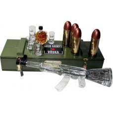 Kalashnikov Red Army AK47 Vodka in wapenkist 120cl