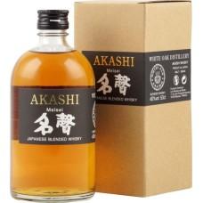 Akashi Meisei Japanese Blended Whisky 50cl Met Geschenkverpakking