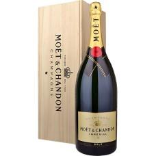 Moet & Chandon Champagne Brut 6 Liter, Mathusalem met Houten Kist