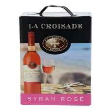 La Croisade Syrah Rosé Wijn 3 Liter BIB Bag in Box Met Tap kraantje!