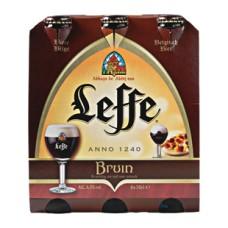 Leffe Bruin Dubbel Bier Fles, Doos 24x30cl